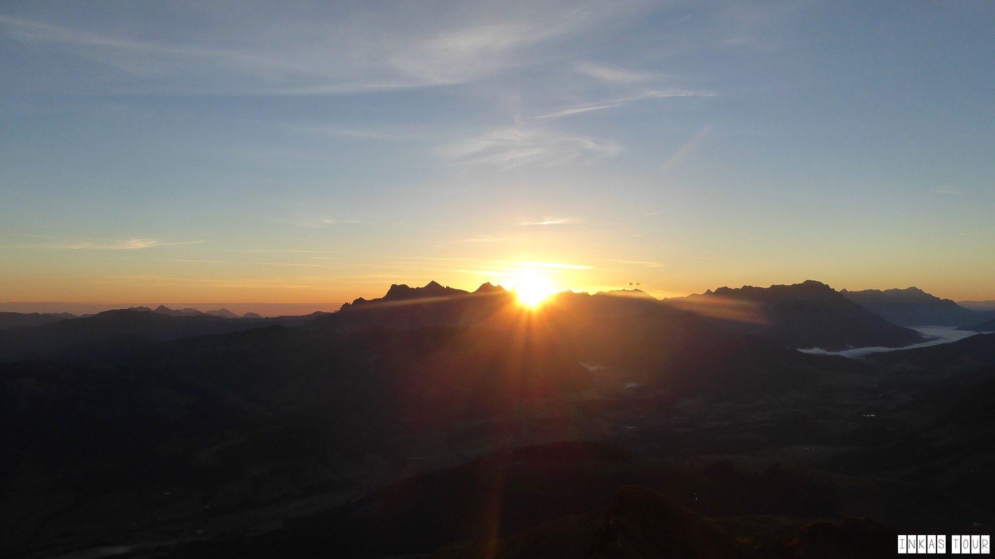 Sunrise Kitzbuhler Horn width=