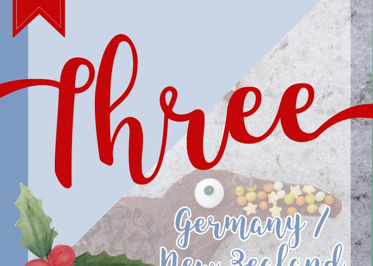 Kiwi Gingerbread Cookies - December 3rd Christmas Advents Calendar