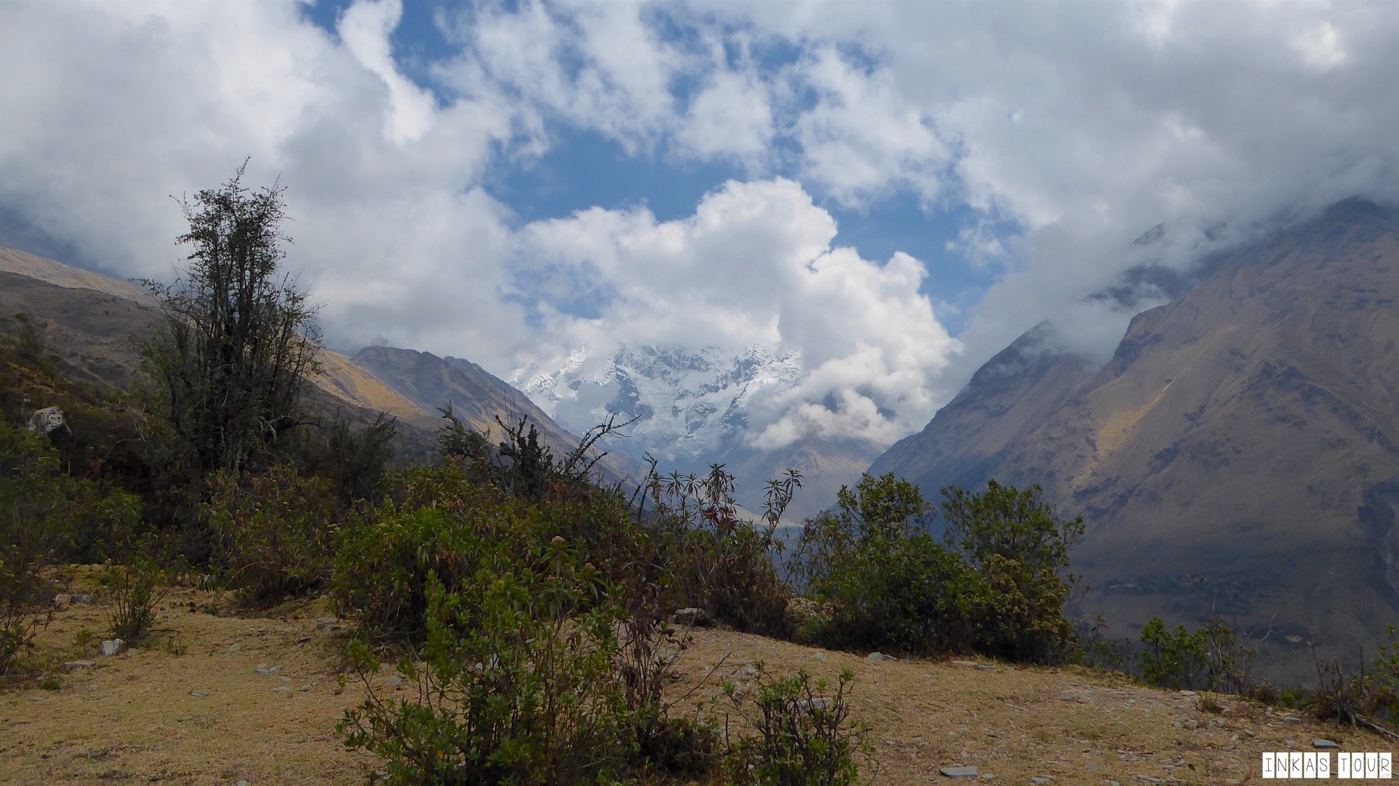 Early on, there is this amazing view of Nevado Salkantay, Salkantay Trek