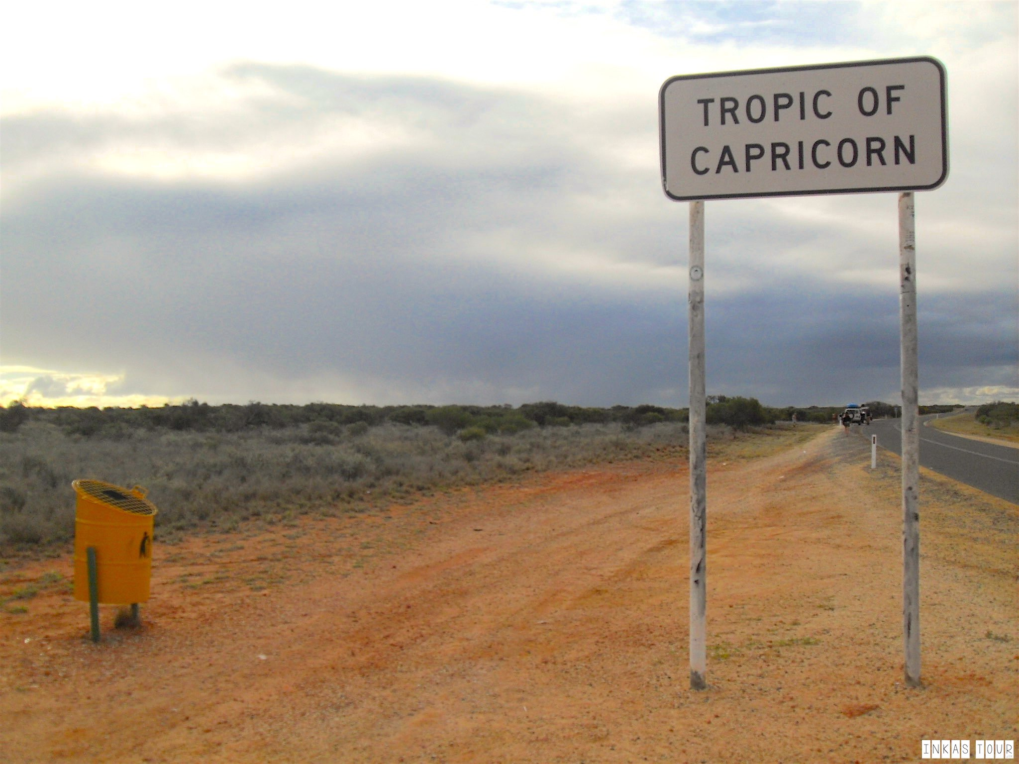 At the Tropic of Capricorn in Australia, is a Trash Can!!