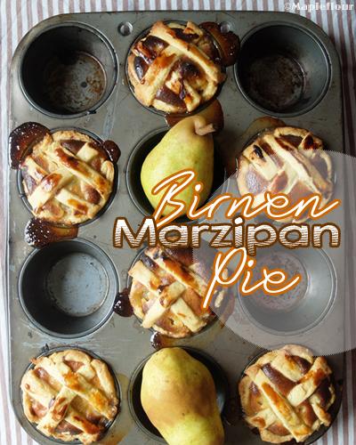 Birnen Marzipan Pie