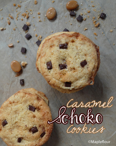 Melt in your Mouth Caramel Chocolate Cookies