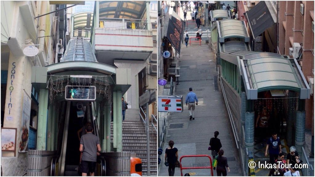 escalator stairs 8 hour layover in Hong Kong
