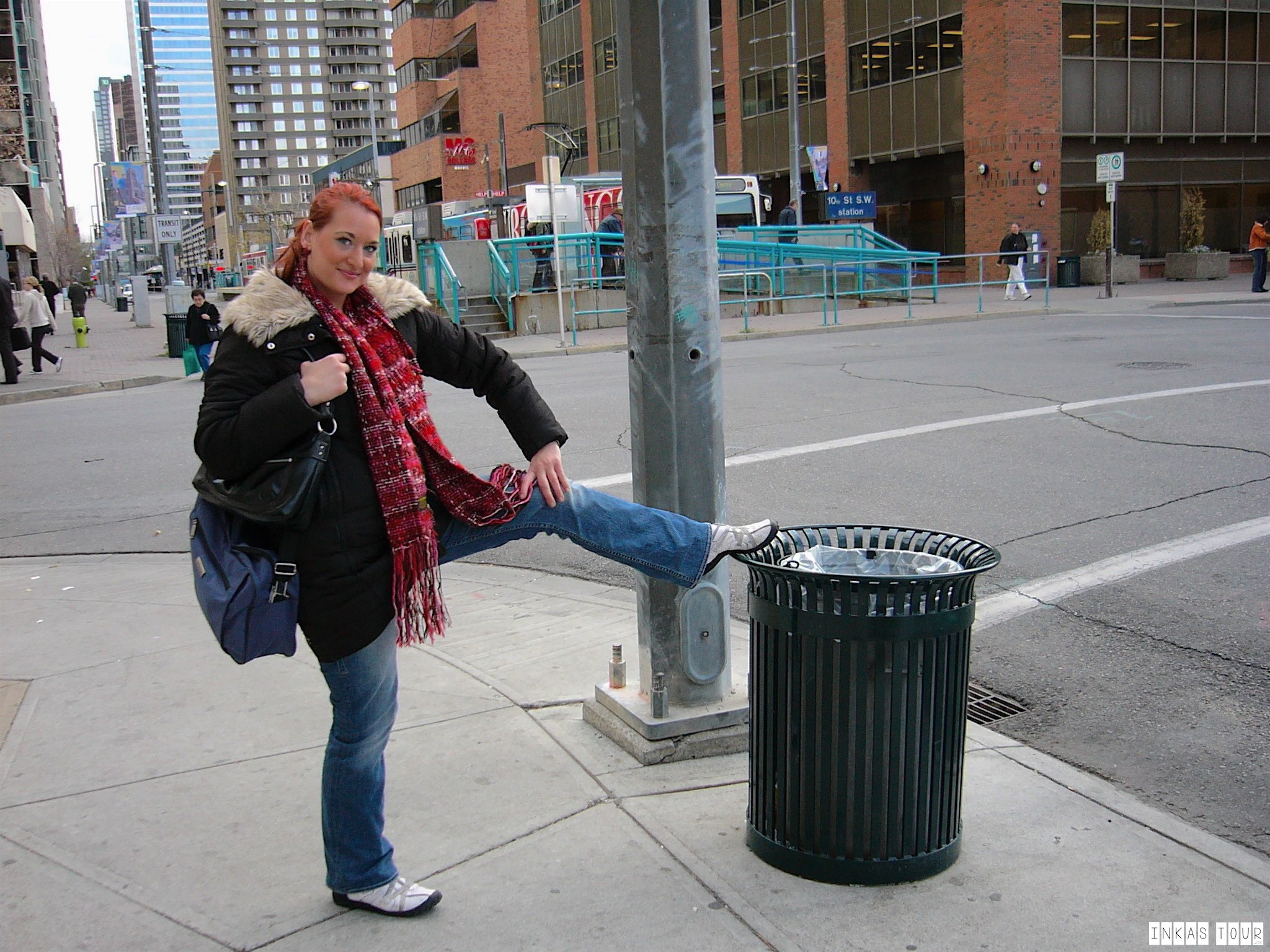Jenna and the first Trash Can