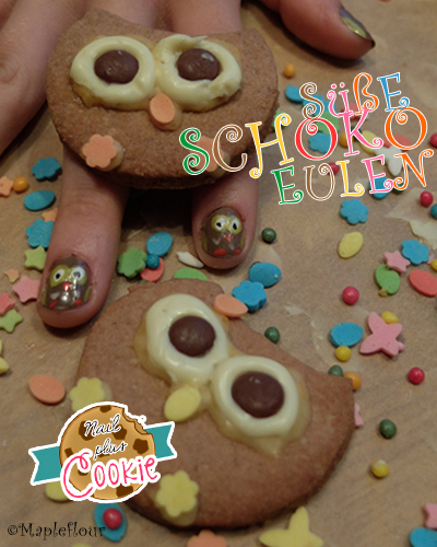Süße Schoko Eulen - My Nails Match my Cookies
