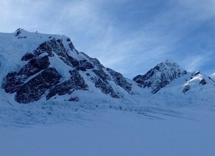 Standing on the Tasman Glacier, New Zealand